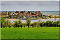 NU2310 : View towards Alnmouth from the A1086 Coast Route by David Dixon