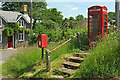 SO0925 : Postbox and phone box, Pencelli by Derek Harper