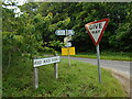SU3342 : Plenty of signs at the junction by Anthony Vosper