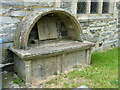 SJ0337 : Canopied tomb in Llandrillo churchyard by Richard Law