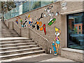 SJ8397 : Looney Tunes Art Trail #2, Cartoon Characters at Deansgate Square by David Dixon