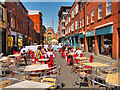 SJ8498 : Street Cafés on Edge Street by David Dixon