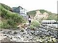 SH2741 : Landslip at Porth  Dinllaen by Oliver Dixon