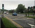 ST3091 : Keep Clear area on the A4051 Malpas Road, Newport by Jaggery
