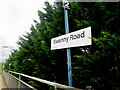 SS8590 : Ewenny Road station name sign, Maesteg by Jaggery