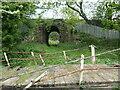 SD5308 : Disused swingbridge and railway underbridge by Christine Johnstone