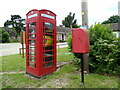 TL8935 : Lamarsh Postbox & Adopted Telephone Box by Geographer