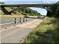 ST6674 : Bridge over the Ring Road at Siston Common by David Dixon