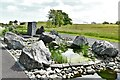 SN5218 : National Botanic Garden of Wales: Water feature made using Welsh stone 1, Pre-Cambrian by Michael Garlick
