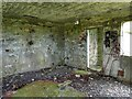 NL9446 : Tiree - Inside one of the derelict former military buildings by Rob Farrow