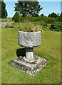 NS3673 : Carved stone urn by Richard Sutcliffe