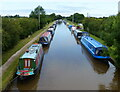 SJ6157 : Narrowboats moored along the Middlewich Branch Canal by Mat Fascione