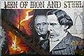 SO5710 : Wall mural of David and Robert Mushet by Philip Halling