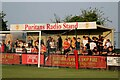 SP4639 : The Puritans Radio Stand at the Banbury Plant Hire Community Stadium by Steve Daniels