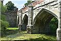 TQ4274 : Bridge over the moat, Eltham Palace by David Martin