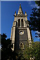TM1644 : Ipswich: spire of St Mary-le-Tower by Christopher Hilton