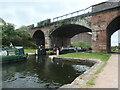 SJ3492 : Two narrowboats entering Stanley Lock 3 by Christine Johnstone