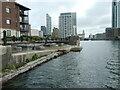 SJ3391 : Entrance to Princes Half Tide Dock from West Waterloo Dock by Christine Johnstone
