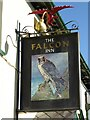SN6275 : The Falcon Inn sign by Philip Halling