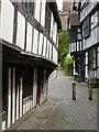 SO7137 : Timber-framed buildings on Church Lane by Philip Halling
