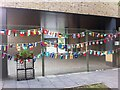 SP3379 : Flags of the nations, Sidney Stringer Primary School, Hillfields, Coventry by Alan Paxton