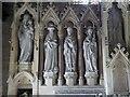 SO9226 : Reredos in Elmstone Hardwicke church by Philip Halling