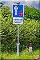 TQ1750 : Corrected road sign by Ian Capper