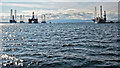 NH7868 : Oil exploration rigs in the Cromarty Firth by Julian Paren
