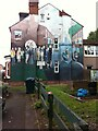 SP3278 : Starley Housing Co-operative mural, Coventry by Alan Paxton