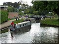 SO8453 : Locking down to the River Severn, Worcester by Chris Allen