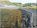 NM7417 : Sea wall, at Ellenabeich, Seil Island by M J Richardson