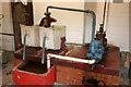 SJ8333 : Mill Meece Pumping Station - measuring tank demonstration by Chris Allen