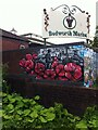 SP3587 : Bedworth civic mural, Mill Street by Alan Paxton