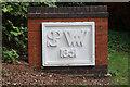 SJ8333 : Mill Meece Pumping Station - SPWW 1851 plaque by Chris Allen