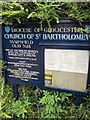 SO8000 : Church information board, Nympsfield, Gloucestershire by Jaggery
