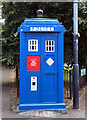 NS6065 : A police box at the junction of Cathedral Square and Castle Street, Glasgow by habiloid