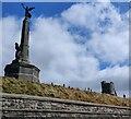 SN5781 : Aberystwyth war memorial and castle by Mat Fascione