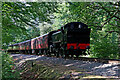 SO7778 : Train approaching Trimpley Crossing in Worcestershire by Roger  Kidd