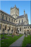 ST5545 : Wells Cathedral, from the cloisters by Roger Cornfoot