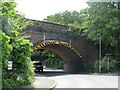 SZ0692 : Railway bridge over Bourne Valley Road, Branksome, Poole by Malc McDonald