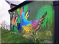 SP3380 : Bee-eater mural, Coventry Canal by Alan Paxton