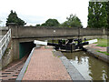 SO8557 : Worcester and Birmingham Canal - lock No. 8 and bridge No.15 by Chris Allen