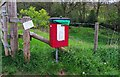 SO8277 : Dog waste bin by entrance to Puxton Marsh SSSI, Kidderminster, Worcs by P L Chadwick