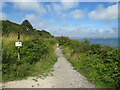 SY7072 : Former railway route at East Weare, Isle of Portland by Malc McDonald