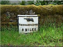 NR9374 : Milestone at Melldalloch by Thomas Nugent