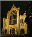 TG2308 : Norwich - Cathedral - Western façade at night by Rob Farrow