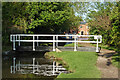 SK1413 : Canal footbridge at Fradley Junction in Staffordshire by Roger  Kidd