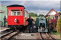 SJ9927 : Amerton Railway - trains in the station by Chris Allen