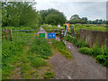 ST4739 : A Frame Barrier on Ham Wall RSPB Reserve by Kevin Pearson