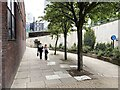 SP0787 : Landscaped shared path to Lancaster Circus or St Chad's Queensway, Birmingham by Robin Stott